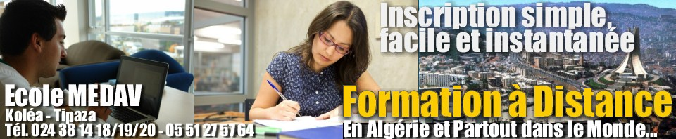 formation a distance algerie 2016