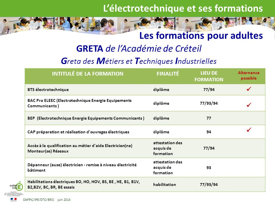 formation adulte electrotechnique