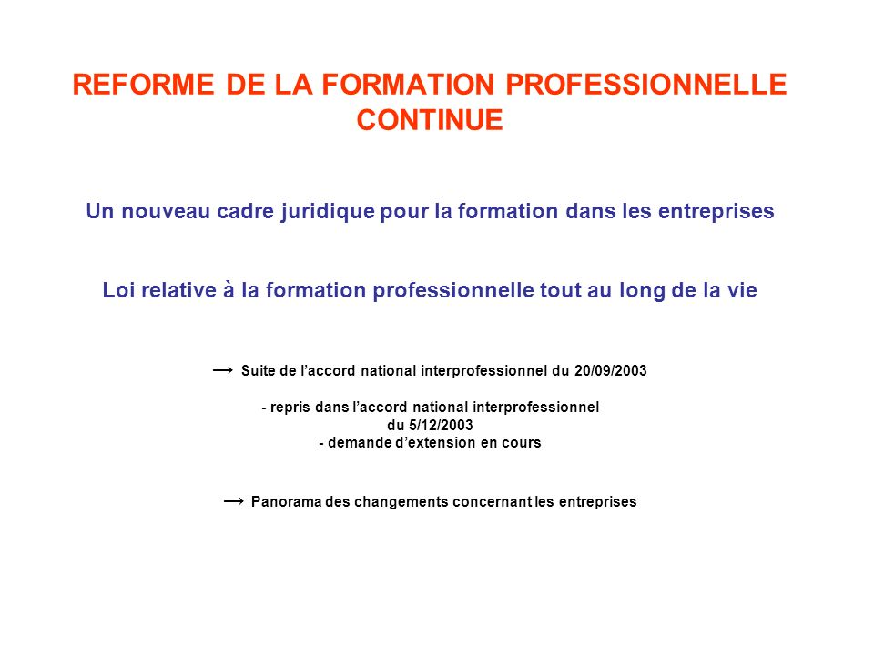 formation continue + 20