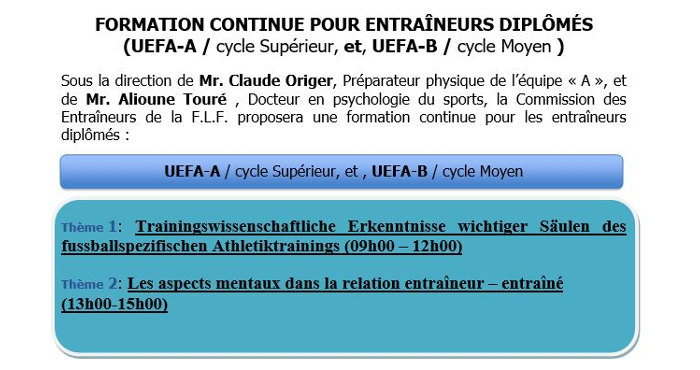 formation continue b
