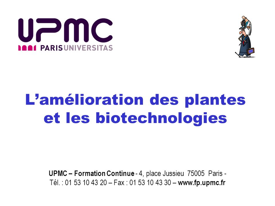 formation continue biotechnologie