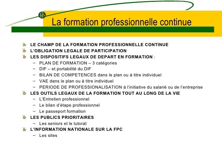 formation continue obligation
