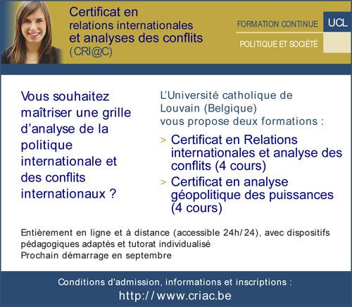 formation en ligne relations internationales